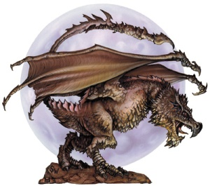 The Wyvern monster manual illustration from 3rd edition of D&D by the way.