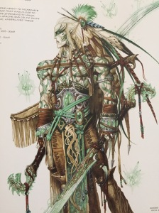 Awesome elf character sketch for Heroes of Might and Magic by Ledroit.