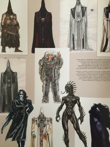 Character sketches for a SF universe by Ledroit.