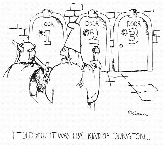 will mclean monty haul humor D&D cartoon